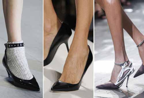 классические туфли-лодочки острый носок фото