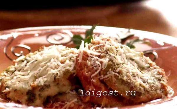 баклажаны с сыром в духовке - фото