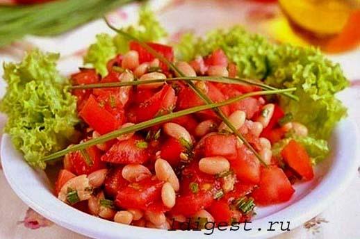 простой салат с фасолью фото